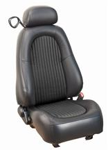 Mustang Bullitt Seat Upholstery Dark Charcoal Leather (2001)