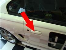 1994-98 Mustang RH Outer Door Handle, Paint To Match