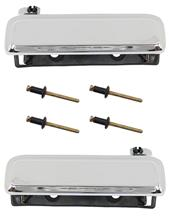 Mustang Outer Door Handle Kit Chrome (79-93)