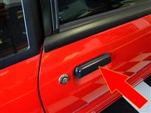 Mustang OEM Outer Door Handle, RH Black (79-93)