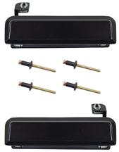 1979-93 Mustang Black Outer Door Handle Kit