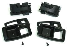 Mustang 5.0Resto Deluxe Inner Door Handle & Bezel Kit Black (79-93)
