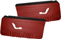 Mustang Deluxe Door Panels for Hardtop w/ Manual Windows Scarlet Red (90-92)