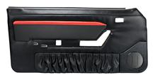 Mustang TMI Mach 1 Style Door Panels w/ Power Windows Black/Red (88-89) Convertible
