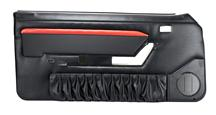 Mustang TMI Mach 1 Style Door Panels w/ Power Windows Black/Red (90-93) Convertible
