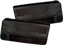 Mustang Deluxe Door Panels for Convertible w/ Power Window w/ Power Windows Black (88-89)