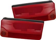 Mustang Deluxe Door Panels for Convertible w/ Power Window Scarlet Red (88-89)