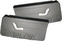 Mustang Deluxe Door Panels for Hardtop w/ Manual Windows Titanium Gray (90-92)