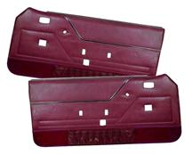 Mustang TMI Deluxe Door Panels for Hardtop w/ Manual Windows Canyon Red (84-86)