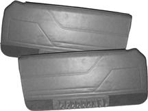 Mustang TMI Deluxe Door Panels for Hardtop w/ Power Windows Charcoal Gray (84-86)