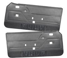 Mustang Deluxe Door Panels for Hardtop w/ Manual Windows Charcoal Gray (84-86)