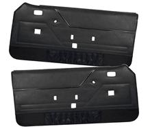 Mustang TMI Deluxe Door Panels for Hardtop w/ Manual Windows Black (81-86)
