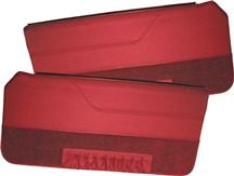 Mustang TMI Deluxe Door Panels for Convertible W/Power Windows Medium Red  (83-84)