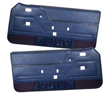 Mustang TMI Deluxe Door Panels for Hardtop w/ Power Windows Regatta Blue (85-86)