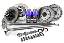 Mustang 5-Lug Conversion Kit w/ Slotted Rotors - 28 Spline Axles (87-93)