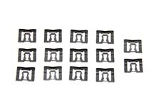 Mustang Rear Glass Molding Clips (14 Piece) (79-93) Coupe