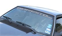 Mustang 50Resto.com Windshield Banner  Silver (79-93)
