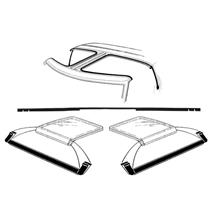 Mustang T-Top 4 Piece Weatherstrip Kit, After 10/83 (84-86)