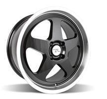 Mustang Saleen SC Wheel - 18x8.5 Black w/ Mirror Lip (79-93)