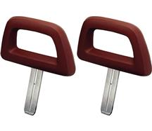 Mustang Halo Headrest Pair Red (84-86)