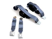 Mustang Front Seat Belt Set Regatta Blue (85-89)