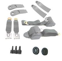 Mustang Front Seat Belt Kit Smoke Gray (87-89)