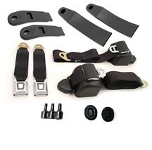 Mustang Front Seatbelt Kit Black (87-89)