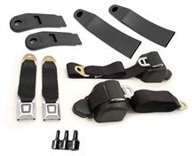Mustang Front Seatbelt Kit Black (90-93)