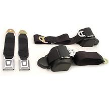Mustang Front Seatbelt Set Black (90-93)