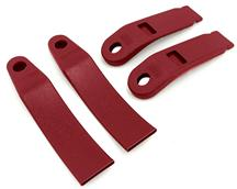 Mustang Front Seat Belt Sleeve Kit Scarlet Red (90-92)
