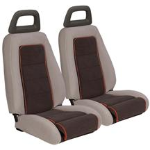 Mustang GT Cloth Sport Seat Upholstery Charcoal Gray w/ Red Welt (85-86) Hatchback