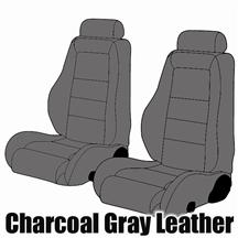 Mustang SVO Leather Seat Upholstery Dark Gray (1984)