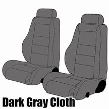 1985-86 MUSTANG SVO DARK GRAY CLOTH SEAT UPHOLSTERY