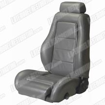 Mustang SVO Leather Seat Upholstery Dark Gray (85-86)