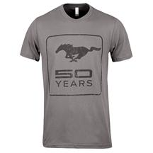 50 Year Mustang Logo T-Shirt, X-Large Charcoal