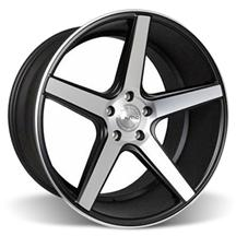 Mustang KMC 685 District Wheel - 20x10.5 Black w/ Machined Face (05-15)