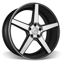 Mustang KMC 685 District Wheel - 20x8.5 Black w/ Machined Face (05-15)