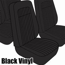 Mustang TMI Seat Upholstery Black Vinyl (79-80) High Back Coupe