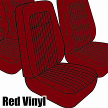 Mustang TMI Seat Upholstery Red Vinyl (79-80) High Back Coupe