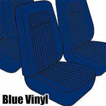 Mustang TMI Seat Upholstery Blue Vinyl (79-80) High Back Coupe