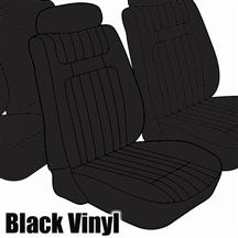Mustang TMI Seat Upholstery Black Vinyl (79-80) Low Back Coupe