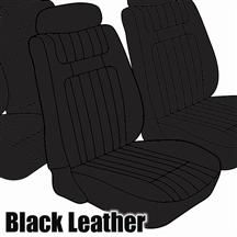 Mustang TMI Seat Upholstery Black Leather (79-80) Low Back Coupe