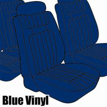 Mustang TMI Seat Upholstery Blue Vinyl (79-80) Ghia Coupe