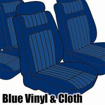 Mustang TMI Seat Upholstery Blue Cloth/Vinyl (79-80) Ghia Coupe