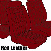 Mustang TMI Seat Upholstery Red Leather (79-80) Ghia Coupe