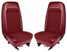 Mustang TMI Seat Upholstery Red Vinyl (79-80) High Hatchback