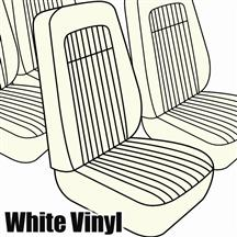 Mustang TMI Seat Upholstery White Vinyl (79-80) High Hatchback