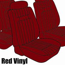 Mustang TMI Seat Upholstery Red Vinyl  (79-80) Low Hatchback