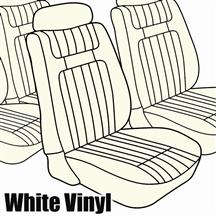 Mustang TMI Seat Upholstery White Vinyl  (79-80) Low Hatchback