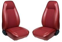 Mustang TMI Seat Upholstery Medium Red Cloth/Vinyl (81-82) Coupe